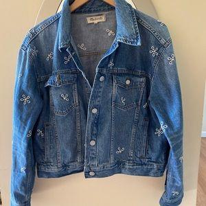 Madewell Daisy Embroidered Boxy Jean Jacket